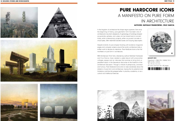 Artifice books on Architecture Autumn 2013 Catalog Spread